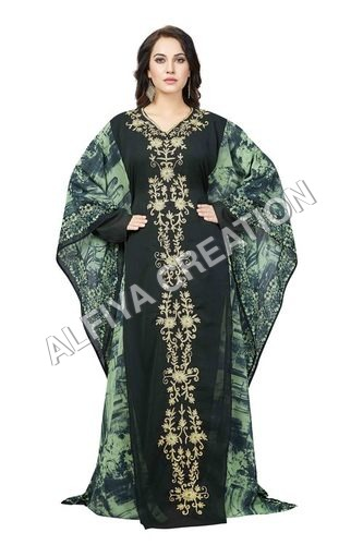 Heavy emroidered farasha dubai fancy kaftan