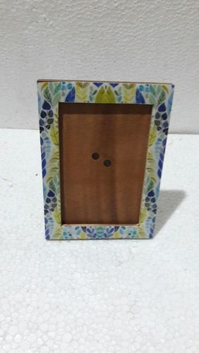 Leaf printed photo frame