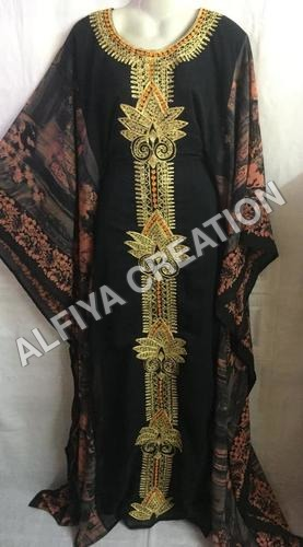 Elegant fancy dubai jalabiya embroidered farasha kaftan
