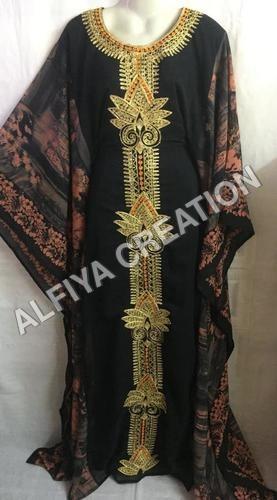 Elegant fancy dubai jalabiya embroidered farasha kaftan