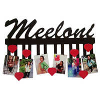 Hanging personalize photo frame