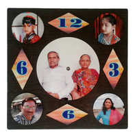 Family Photo Print Wall Clock