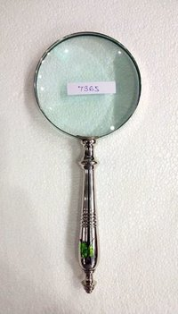 Magnifying glass brass handle