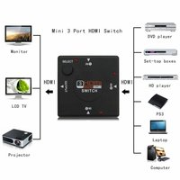 3 ports hdmi switcher without remote
