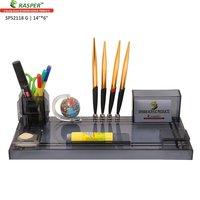 Rasper Multipurpose Acrylic Pen Stand With Globe