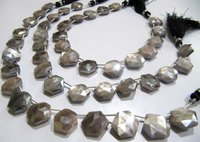 SALE AAA Top Quality Gray Moonstone AB Mystic Coated Hexagon Shape