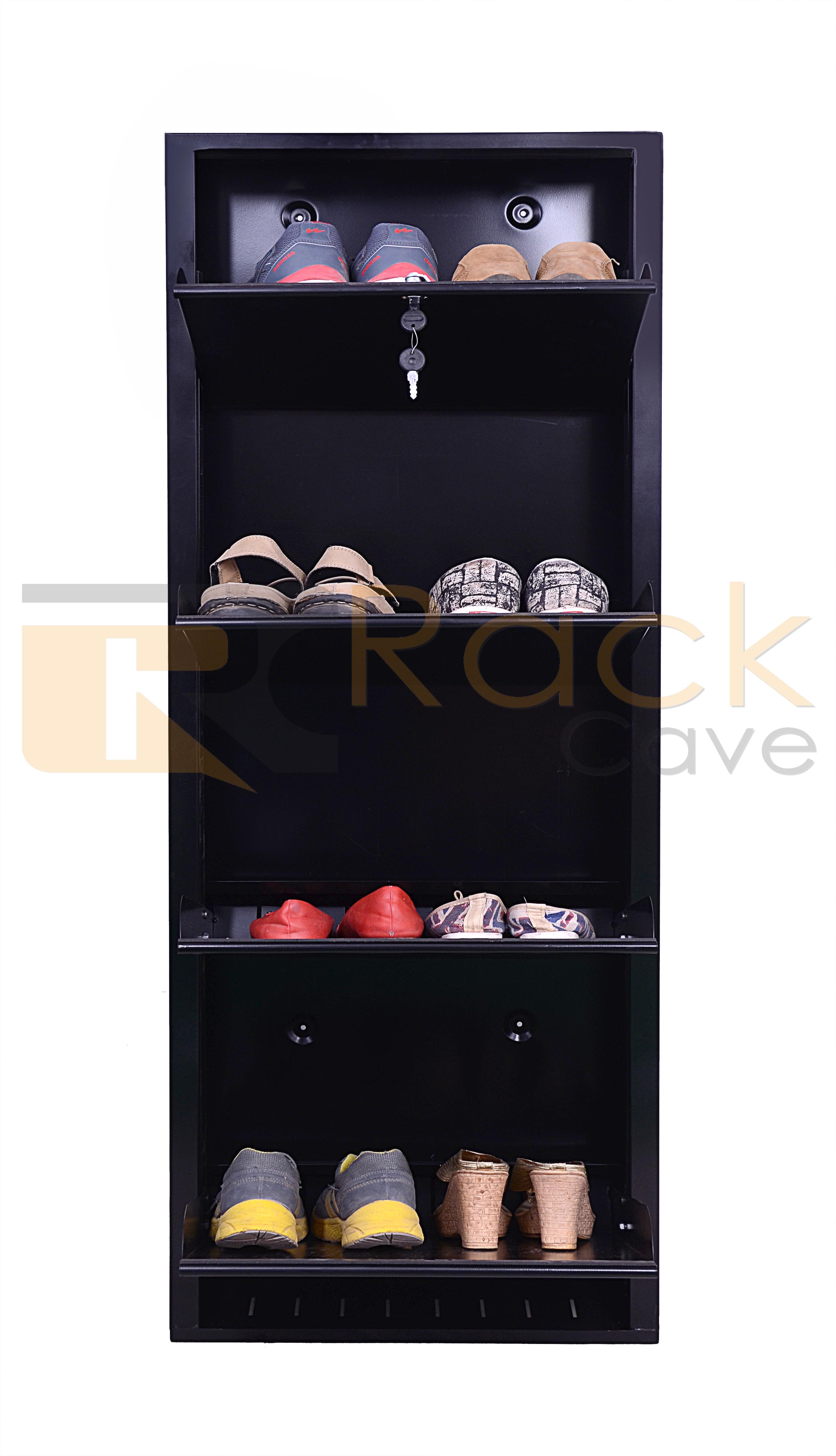 Wall Mounted  Shoe Rack 4 Shelves