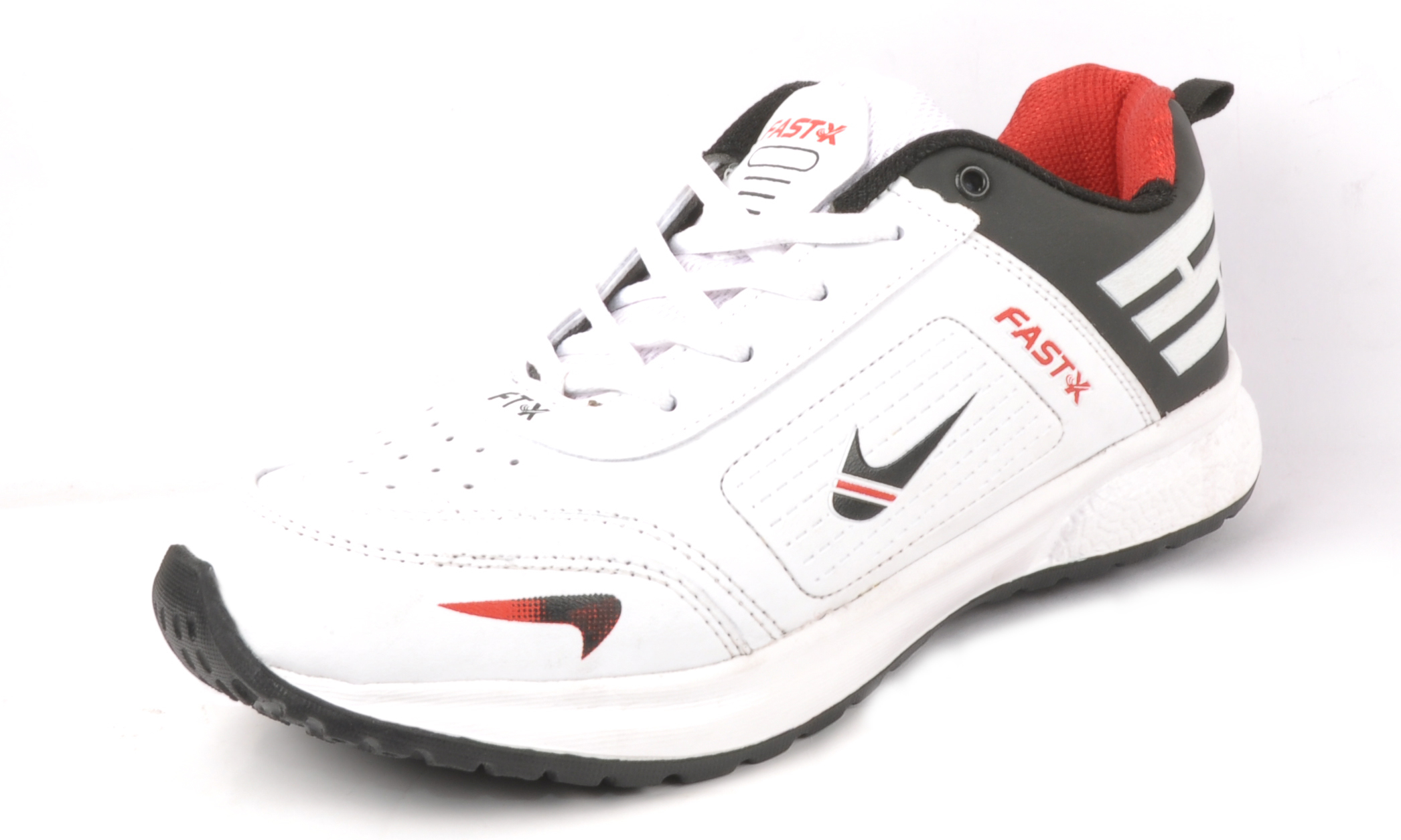 Trendy Black and Red Sports Shoes
