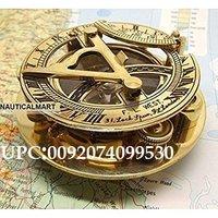 NM05670 NauticalMart Brass Sundial Compass 3