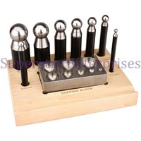 10pc Dapping Flat Block And Punch Set