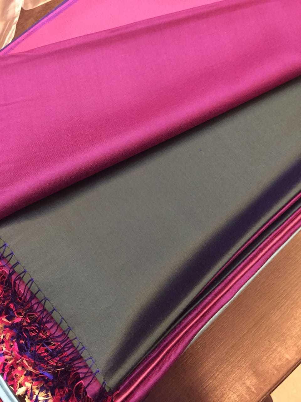 Reversible silk