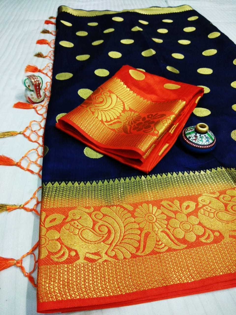 Traditional Tussar Art Silk Saree