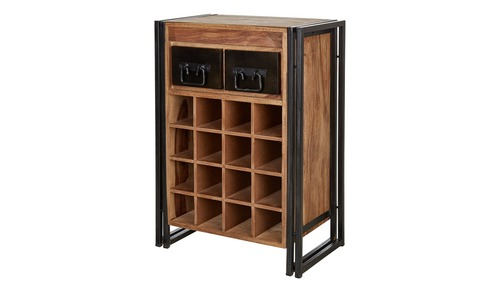 Bar Cabinet 2 Drawer 16 Bottle Rack
