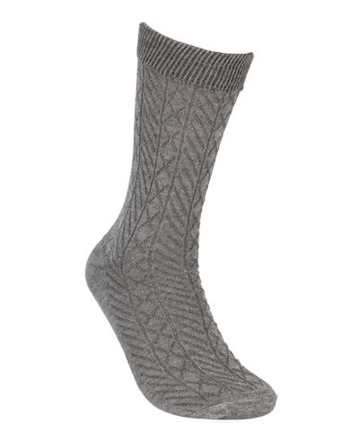 Omega Emboss Design Sparkling  Calf Socks