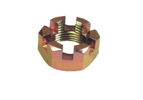 Brass Slotted Castle Nut
