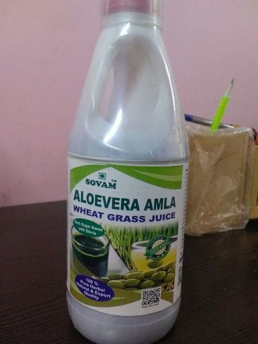 Aloe amla wheatgrass juices