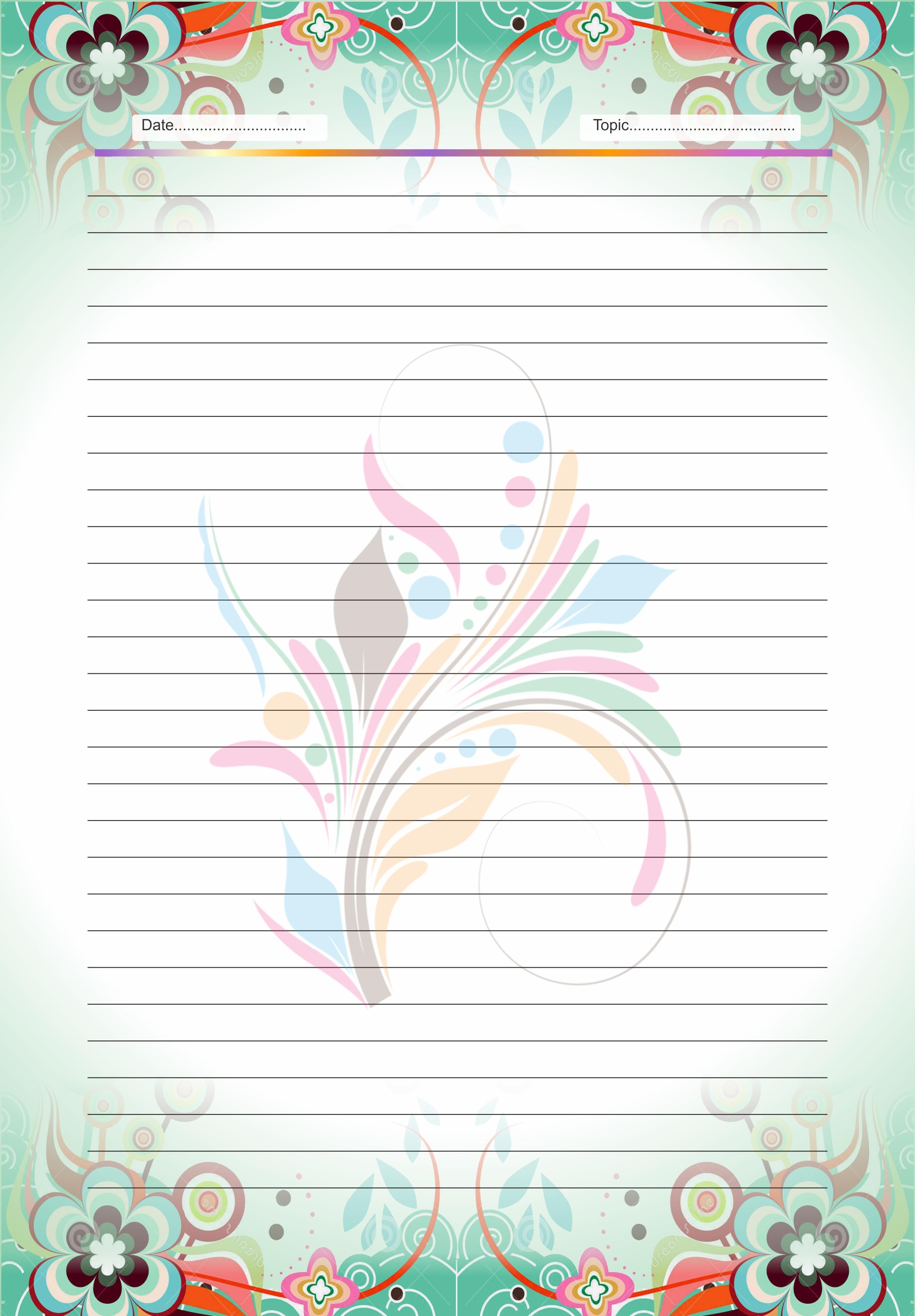 Designing sheet