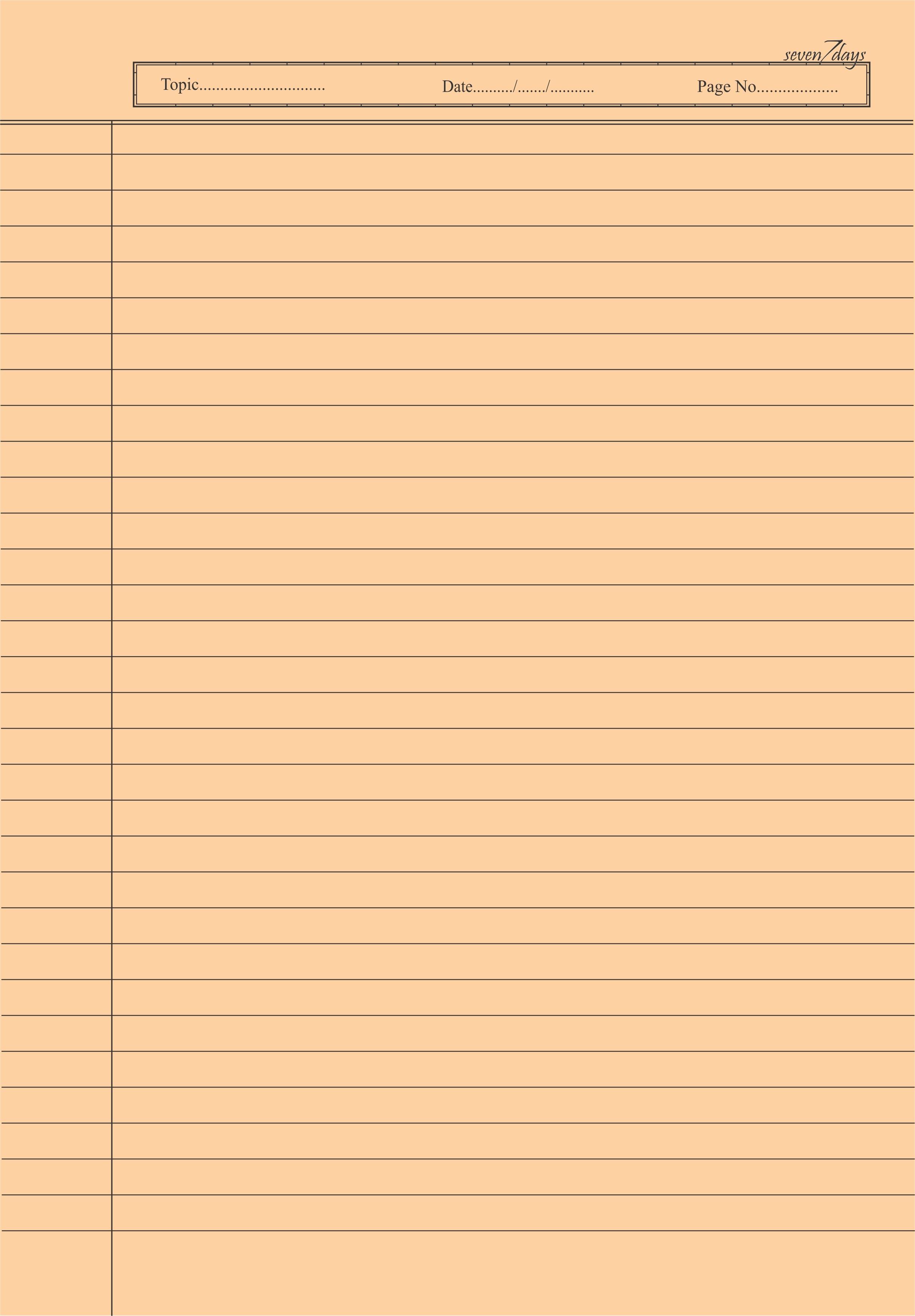Multi Color Ruled Sheet