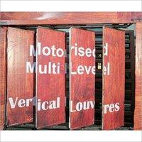 Motorized Vertical Louvers