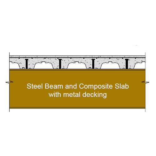 Composite Metal Floor Decking Sheet