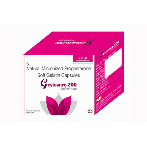 Natural Micronized Progesterone Soft Gelatin Capsules