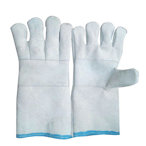 White Leather Hand Gloves