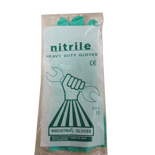 Nitrile Heavy Duty Rubber Gloves
