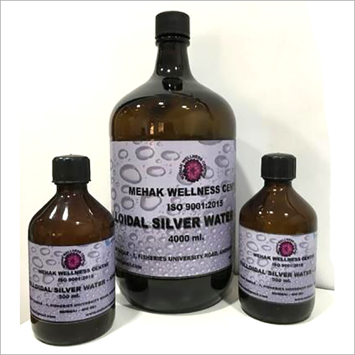 Ionized Colloidal Silver Water