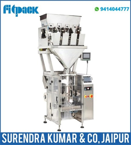 Automatic Pouch Packing FFS collar type with 4 Head weigher