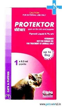 Cipla Protektor Spot On For Cats and Puppies upto 8 Kg (0.50 ml)
