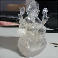 Clear Cast Ganesha statue