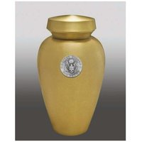 Carlton with Air Force Brass Gold Cremation Urn