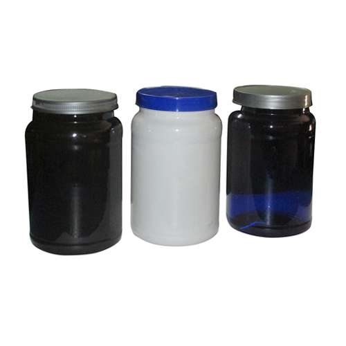 Round Plastic Pet Supplement Jar