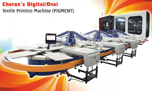 Oval with Digital Printing machine