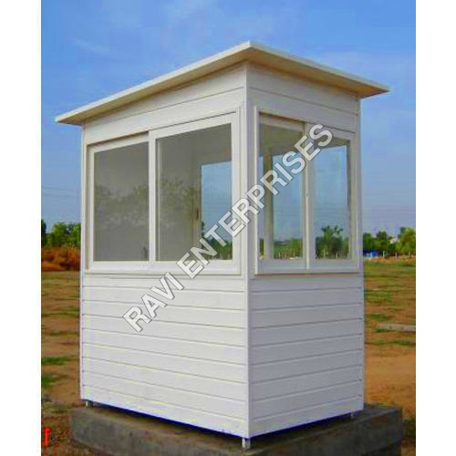 White Security Guard Cabin