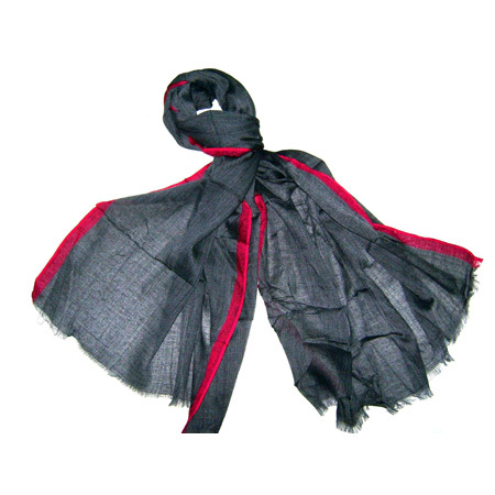 Cotton Black Scarf