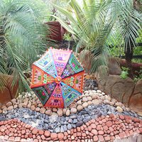 Multi-Color Indian Rajasthani Sun Cotton Banjara Degine Work Fashion Umbrellas