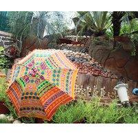 Rajasthani Sun Cotton Banjara Mirror Work Fashion Umbrellas