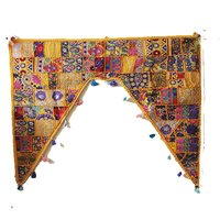 Yellow Gate Embroidered Door Hanging Ethnic Home Decor Torans