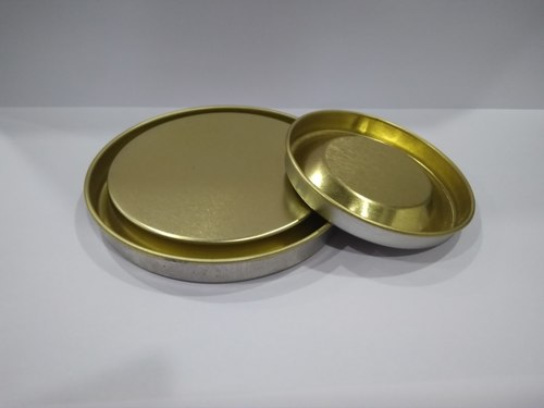 Round Tin Container Lid