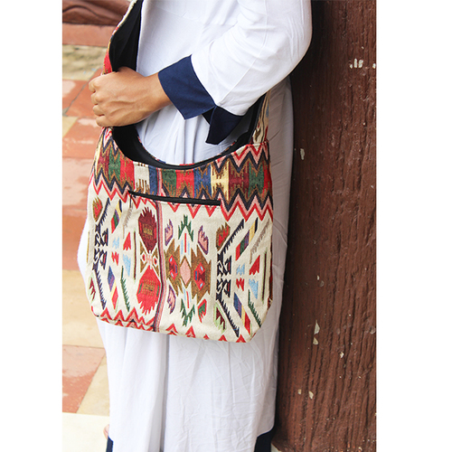New Look Handmade Fashionable Vintage Jacquard Banjara Tote Bag