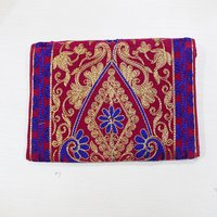 Indian Embroidery Work Zari Work Clutch Handbag
