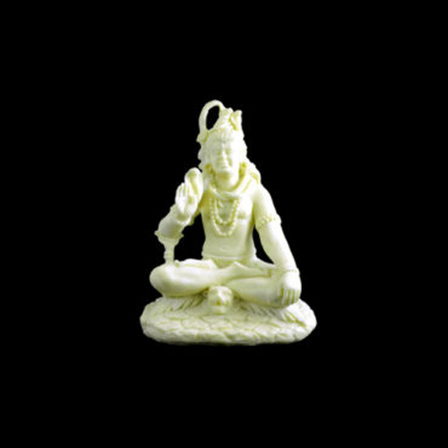 White Resin Lord Shiva