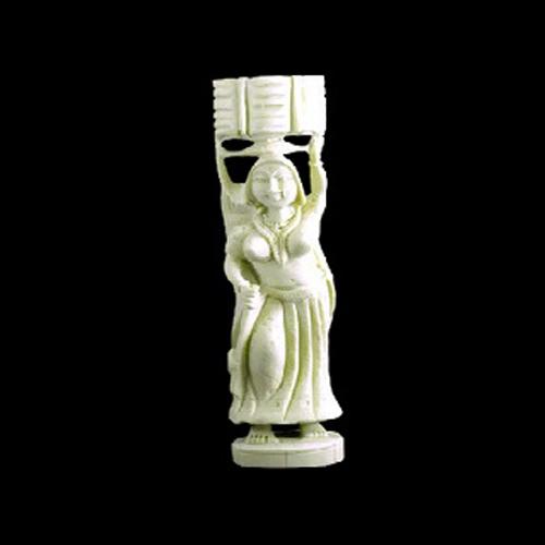 Handmade lady resin figurine