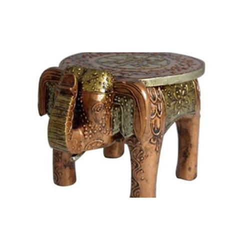 Handmade Wooden Elephant Stool