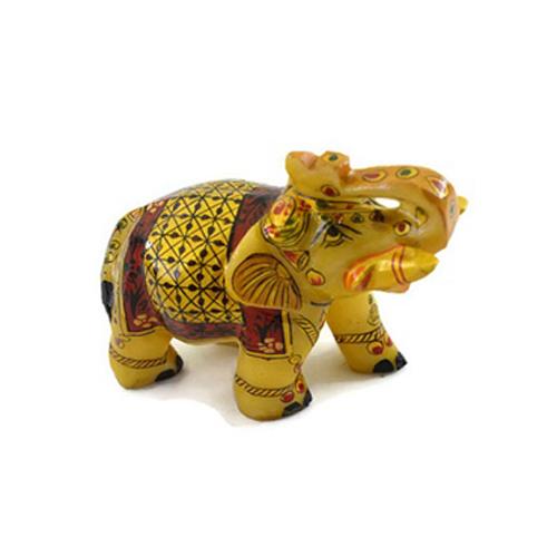 Miniature Painting Marble Elephant statue