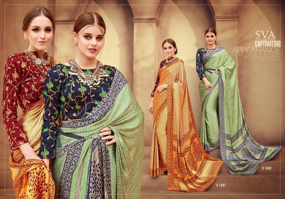 Fancy Silk Printed Sarees