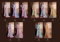 Printed Georgette Silk Sarees
