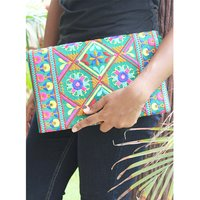Indian Banjara Boho Chic Hippie Cotton Sling Bag Clutch Bag