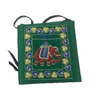 Indian Vintage Banjara Old Coin Tribal Jogi Elephant Pouch Bag